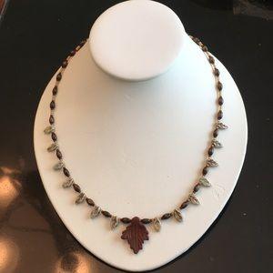 Red Jasper Leaf necklace